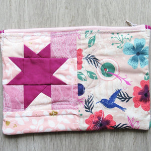 Star of the Tropics Quilted Zipper Pouch