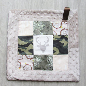 Patchwork Mini Lovey (Camo Stag)