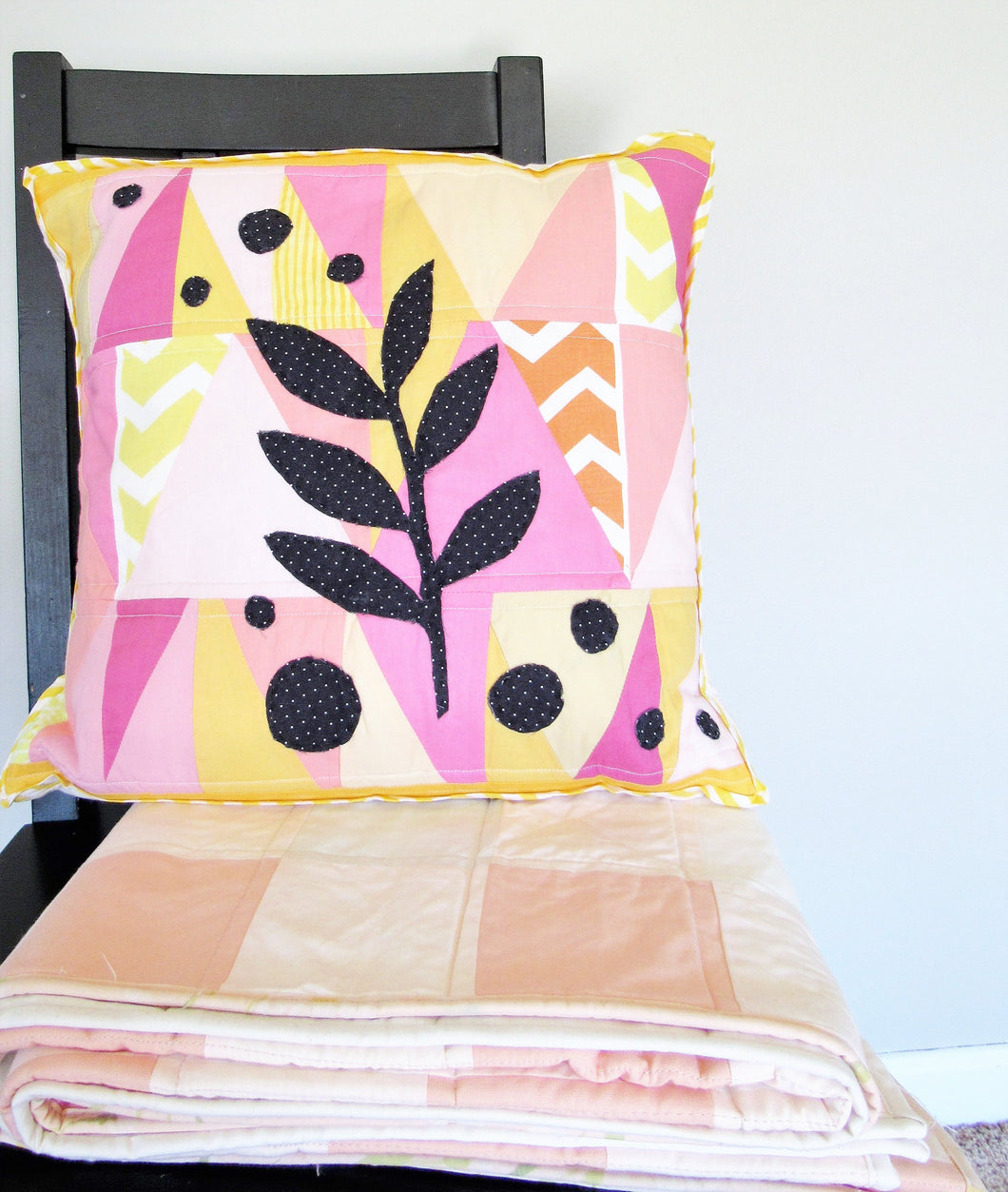 Leaf Collage Pillow Cover