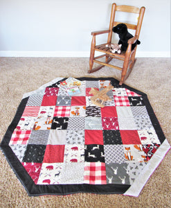 Quilted Baby Play Mat (The Huntsman)