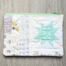 Load image into Gallery viewer, Mint Deer Quilted Zipper Pouch