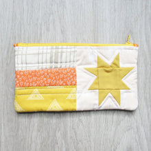 Load image into Gallery viewer, Golden Star Quilted Zipper Pouch