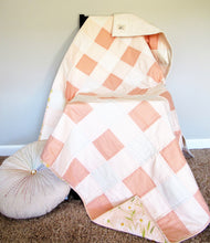 Load image into Gallery viewer, Peaches and Cream Buffalo Check Toddler Quilt