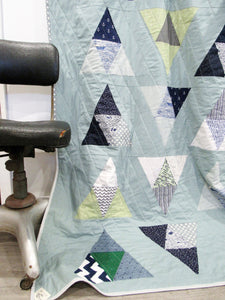The Old Man and the Sea Modern Nautical Throw Quilt