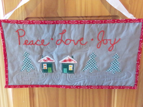 Christmas Village Art Quilt