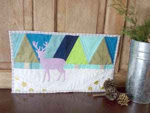Winter Woodland Deer Art Quilt