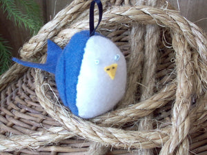 Tweet Bird Ornament (Blue Jay)