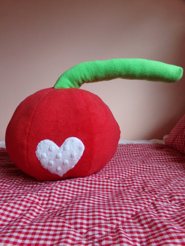 Cherry Plush Pillow