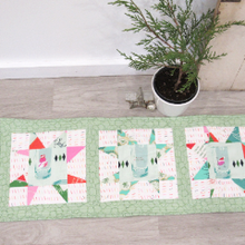Load image into Gallery viewer, Holiday Spark Quilted Table Runner
