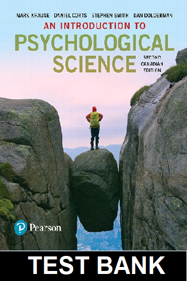 Test Bank for An Introduction to Psychological Science 2nd Canadian Edition Mark Krause
