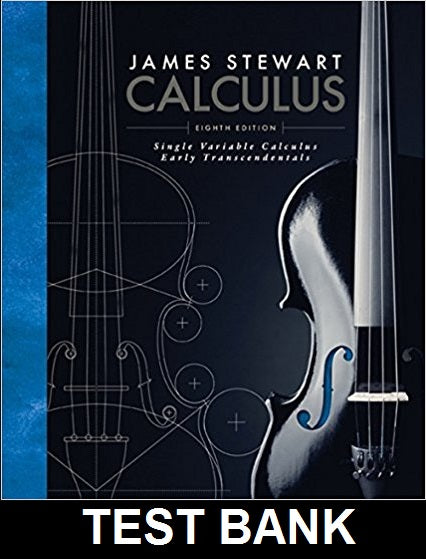 Test Bank for Calculus Early Transcendentals 8th Edition