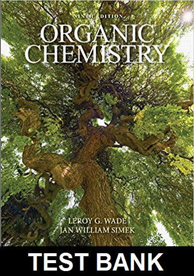 Test Bank for Organic Chemistry 9th Edition Wade