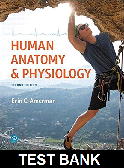 Test Bank for Human anatomy & physiology 2nd edition Erin C. Amerman