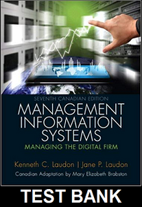 Test Bank for Management Information Systems Managing the Digital Firm Canadian 7th Edition Laudon