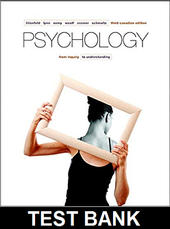 Test Bank for Psychology From Inquiry to Understanding 3rd Canadian Edition Lilienfeld