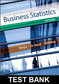 Test Bank for Business Statistics 3rd Edition Sharpe