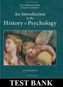 Test Bank for Introduction to the History of Psychology 7th Edition Hergenhahn