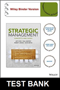 Test Bank for Strategic Management Concepts and Cases 1st Edition Dyer