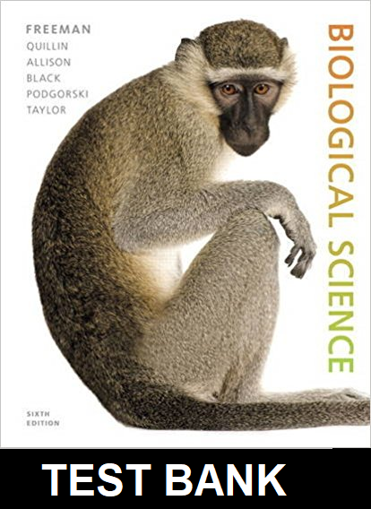 Test Bank for Biological Science 6th Edition Freeman