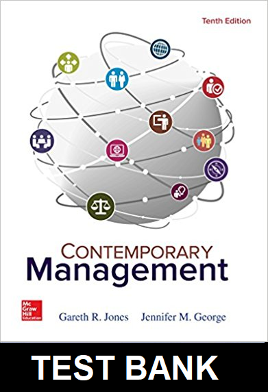 Test Bank for Contemporary Management 10th Edition Jones