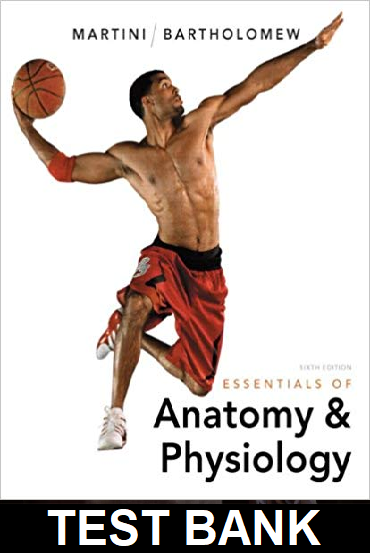 Test Bank for Essentials of Anatomy and Physiology 6th Edition Martini