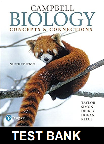 Test Bank for Campbell Biology Concepts and Connections 9th Edition