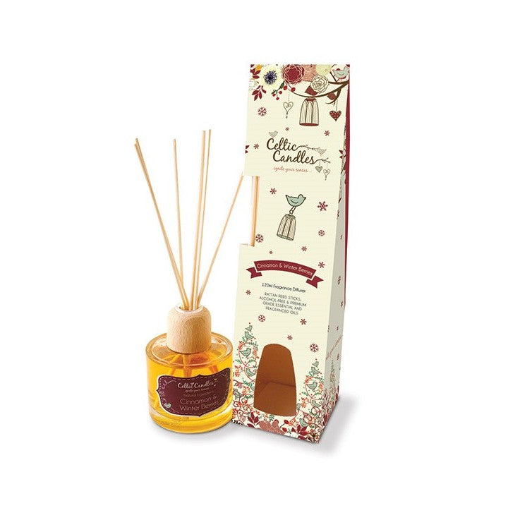 Celtic Candles Fragrance Diffuser- Cinnamon and Winter Berries