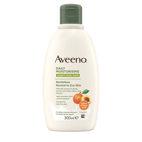 Aveeno Daily Moisturising Yogurt Body Wash Apricot & Honey