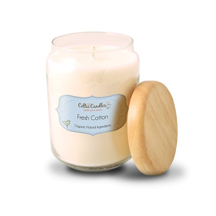 Celtic Candles Large Pop Jar- Fresh Cotton