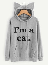 Load image into Gallery viewer, I'm a Cat Ear Hoodie
