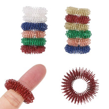 Load image into Gallery viewer, 12PC Spiky Sensory Finger Acupressure Ring Fidget For Stress Relief for kids and adults with autism adhd