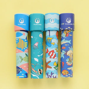 Cartoon 3D Kaleidoscope Imaginative Fancy Colorful World Magic Toddler Sensory Educational Toys For Children Gifts Random Color