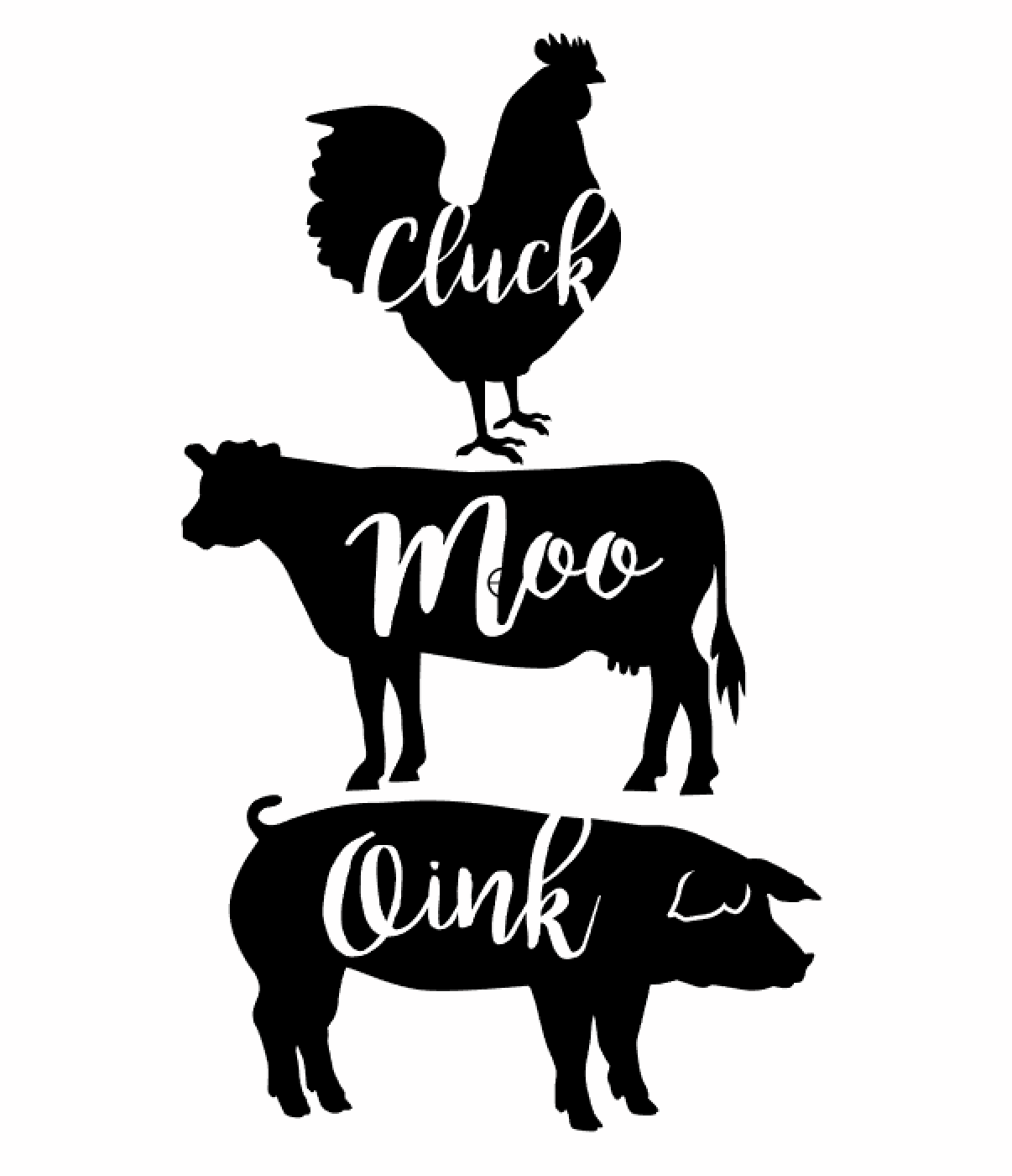Cluck Moo Oink
