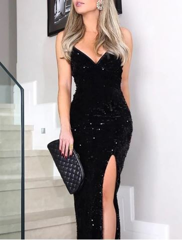SLEEVELESS LONG DRESS - Eve Party Dress 2020 - Best Deals for New Year's Eve Party Dress