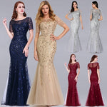 Mermaid Casual Sleeve Long Eve Party Gowns