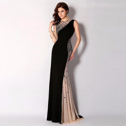 Crystal One-Shoulder Plus Size Prom Party Gown - Dealsfor29.com