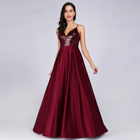 Red Long Formal Prom Party Gowns - Dealsfor29.com