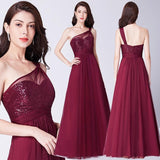 Red Burgundy Evening party Gown | Dealsfor29.com