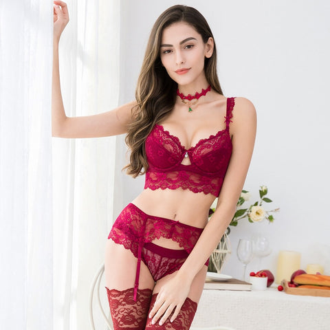 sexy lace lingerie push up bra Panty set - lingerie sexy bra panty set - sex bra panty - fucking bra panty- Deals For 29