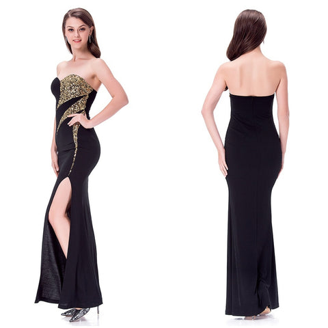 Sexy Black Long Prom Dress - Dealsfor29