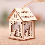 Festival Led Light Wood House Christmas Decorations