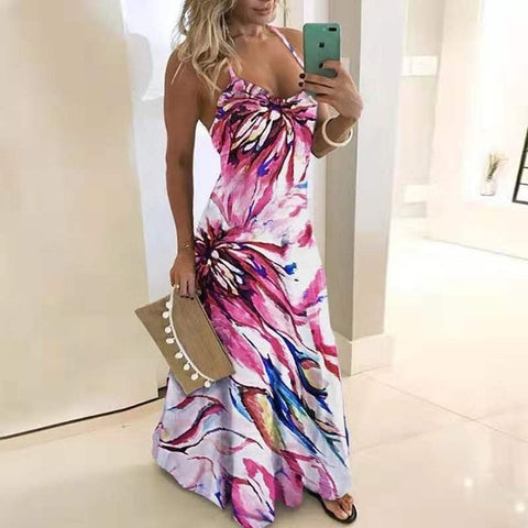 sexy Casual Loose Boho summer Long Dress