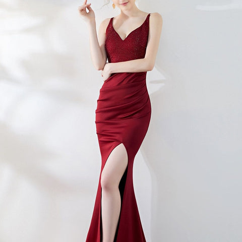 sexy Party Dress - red party dress, evening party dress,