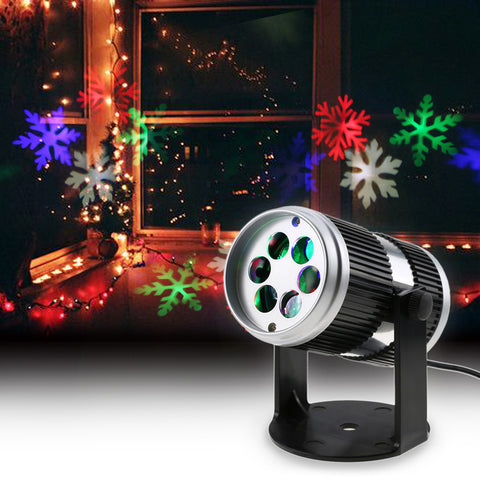 Christmas Laser Projector Lights Activated Moving Dynamic Snowflake