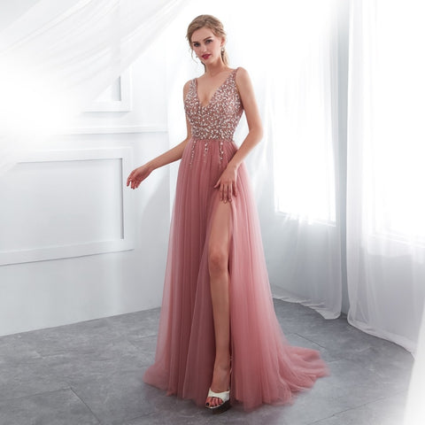 Evening Party Sleeveless Gown