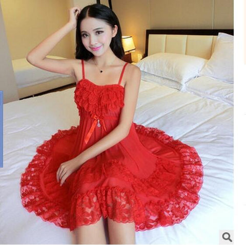 Sexy Red Temptation Night Gown Women - dealsfor29.com