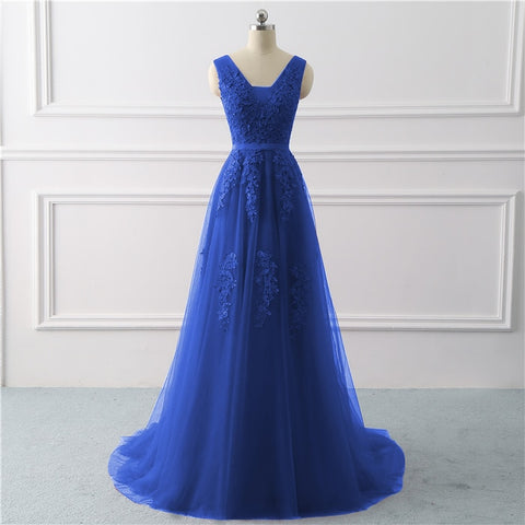Royal Blue Formal Evening Party dress