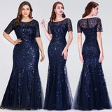 Mermaid Casual Sleeve Long Party Gowns - Dealsfor29.com