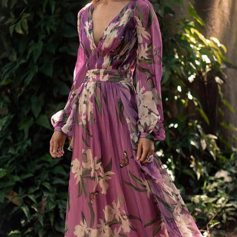 Bohemia Maxi Dresses - Floral printed Slim dress - Party Dress -Deals for 29