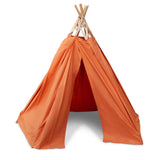 BABAI Cotton Play Tent in Orange Terra Color